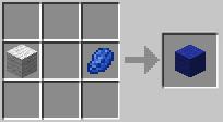 Синяя шерсть minecraft
